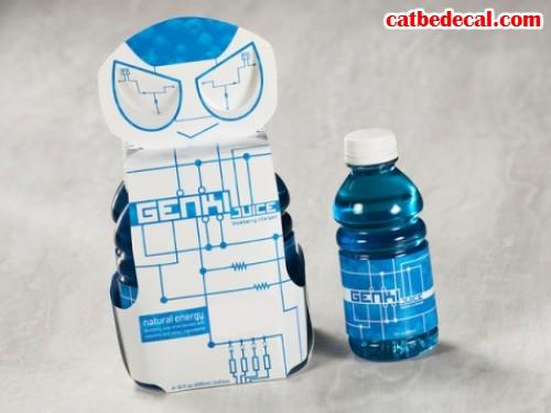 Thiết kế chai nước hoa quả Genki
