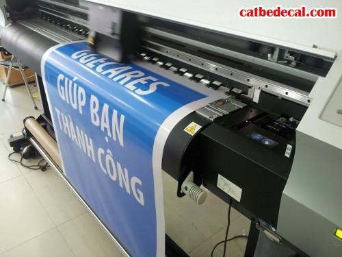 Decal chữ dán trang trí, quảng cáo cho các doanh nghiệp đang được tiến hành in ấn tại CatBeDecal