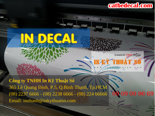 In decal trong dán vách ngăn văn phòng tại Công ty TNHH In Kỹ Thuật Số - Digital Printing