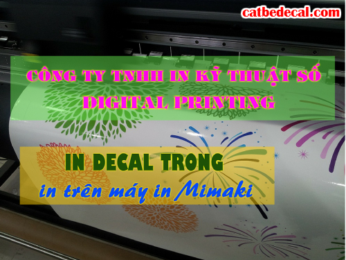 In decal trong suốt tại Công ty TNHH In Kỹ Thuật Số - Digital Printing