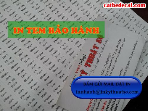 In tem bảo hành giá rẻ tại Công ty TNHH In Kỹ Thuật Số - Digital Printing