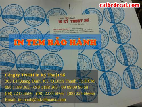In tem bảo hành giá rẻ, nhận thiết kế in tem bảo hành tại Công ty TNHH In Kỹ Thuật Số - Digital Printing