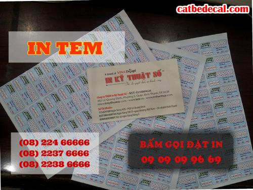 In tem bảo hành giá rẻ tại Tp.HCM tại Công ty TNHH In Kỹ Thuật Số - Digital Printing