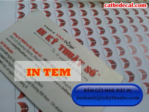 In tem bảo hành HCM tại Công ty TNHH In Kỹ Thuật Số - Digital Printing