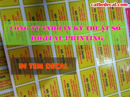 In tem nhãn lấy nhanh tại Công ty TNHH In Kỹ Thuật Số - Digital Printing