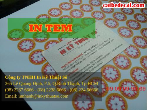 In tem niêm phong tại HCM với Công ty TNHH In Kỹ Thuật Số - Digital Printing