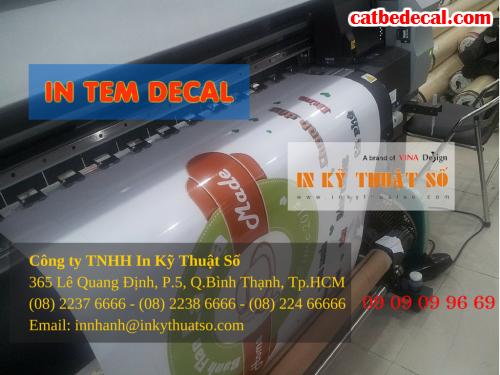 Công ty TNHH In Kỹ Thuật Số - Digital Printing nhận gia công bế tem decal nhựa