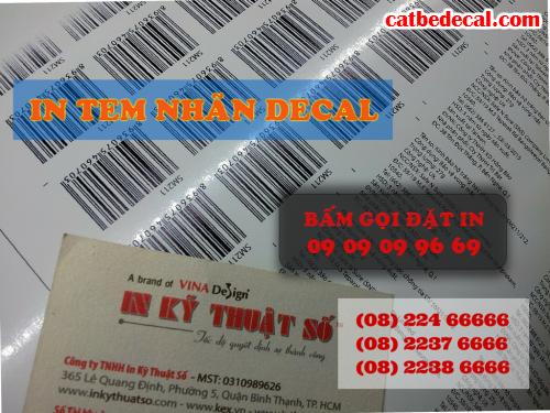 Nhận gia công bế tem decal PP trên máy bế Mimaki khổ 1.4m tại Công ty TNHH In Kỹ Thuật Số - Digital Printing