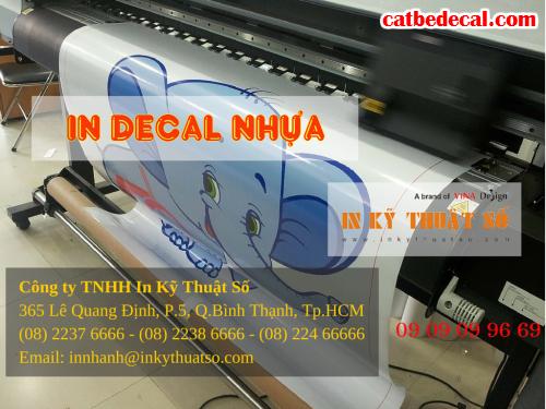 Công ty TNHH In Kỹ Thuật Số - Digital Printing nhận gia công cắt, bế tem decal nhựa sữa trên máy bế Mimaki Nhật Bản