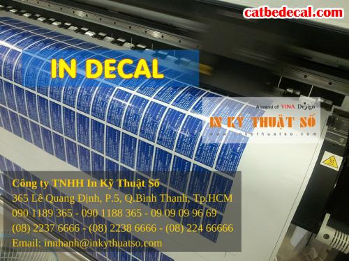 Nhận gia công tem decal nhựa sữa tại Công ty TNHH In Kỹ Thuật Số - Digital Printing